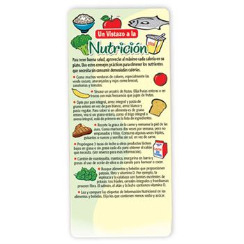 Nutrition At A Glance Glancer (Spanish)