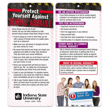 Protect Yourself Against Sexual Assault 2-Sided Glancer - Personalization Available