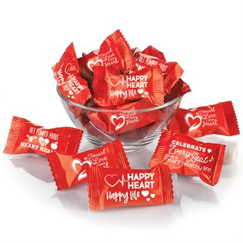 Heart Health Butter Mint Assortment In Red Slogan Wrappers - Pack of 250
