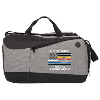 In This Family No One Stands Alone Stafford Duffel Bag