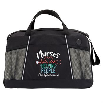 Nurses: Helping People One Life At A Time Northport Duffel Bag
