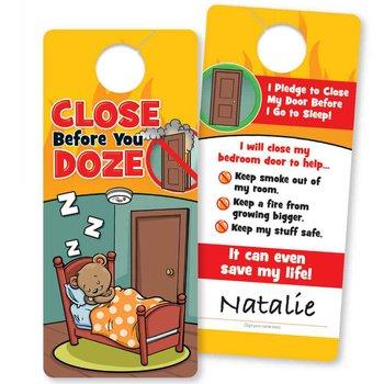 Close Before You Doze Full-Color Door Hanger