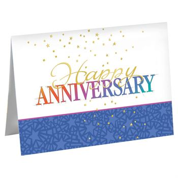 Happy Anniversary Stars Greeting Cards