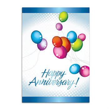 Happy Anniversary! Balloons Design Greeting Card - Personalization Available