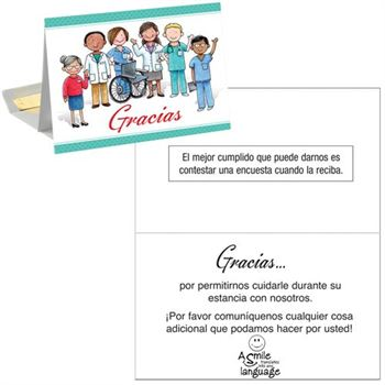 Thank You, Patient Follow-Up Greeting Card With Personalization (Spanish)