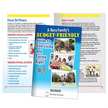 A Busy Family's Budget-Friendly Guide To Exercising & Eating Right Journal - Personalization Available