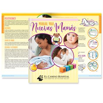 The New Mom's Handbook Spanish Easy-Read Version - Personalization Available