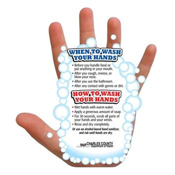 Hand-Washing Guide Magnet - Personalization Available