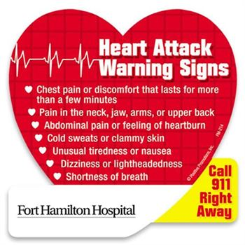 Heart Attack Warning Signs Magnet - Personalization Available