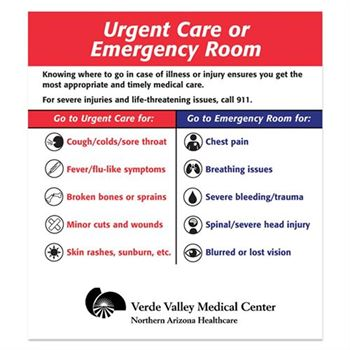Urgent Care Or Emergency Room Magnet - Personalization Available