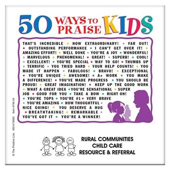 50 Ways To Praise Kids Magnet - Personalization Available