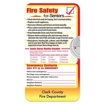Fire Safety For Seniors Magnet - Personalization Available