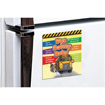 Bus Safety Rules Magnet