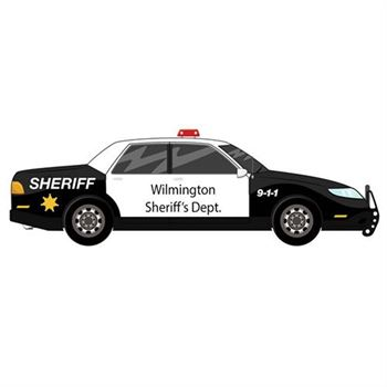 Sheriff's Car Design Magnet - Personalization Available
