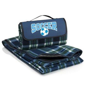 SOCCER Fleece Picnic Blanket