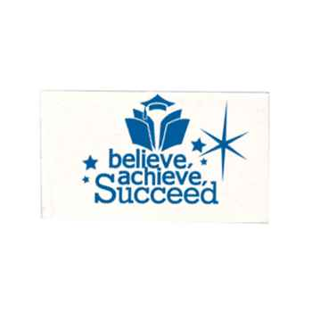 Believe, Achieve, Succeed White Pencil Eraser