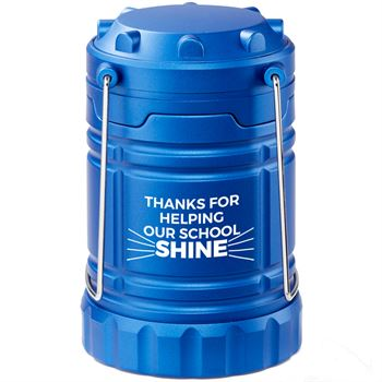 Thanks For Helping Our School Shine Blue Indoor/Outdoor Lantern with Magnetic Base