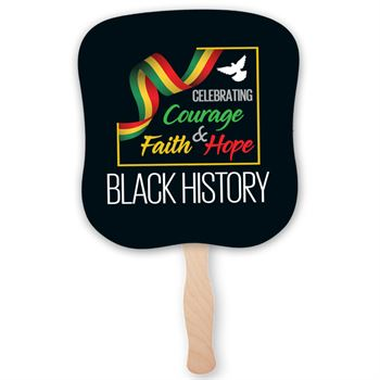 Black History: Celebrating Courage, Faith & Hope Hand Fan