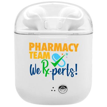 Pharmacy Team: We Rx-perts! Bluetooth Earbuds In Charging Case