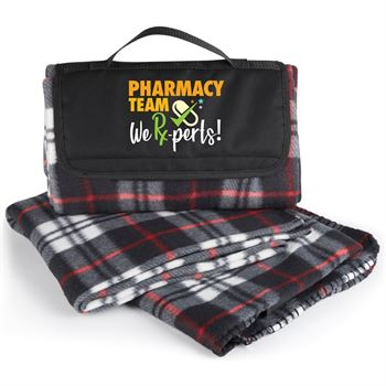 Pharmacy Team: We Rx-perts! Plaid Fleece Blanket