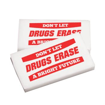 Don't Let Drugs Erase A Bright Future Erasers - Pack of 25