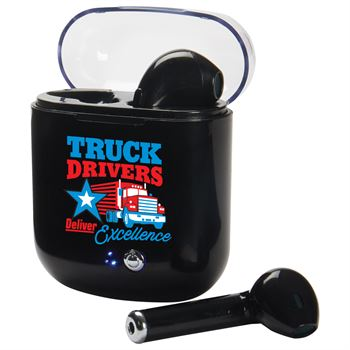 Truck Drivers Deliver Excellence Bluetooth Earbuds In Charging Case