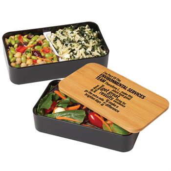 I'm Part Of The Environmental Services Team Therefore I... Eco-Friendly 2-Tier Wheat Fiber & Bamboo Bento Box