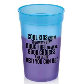 It's Cool To Be Drug Free! Assorted Mood Cups
