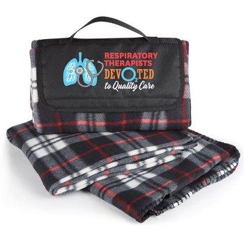 Respiratory Therapists: Devo2ted To Quality Care Plaid Fleece Blanket