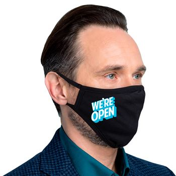 We're Open 2-Ply 100% Cotton Face Mask