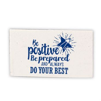Be Positive, Be Prepared, And Always Do Your Best White Erasers - Pack of 25