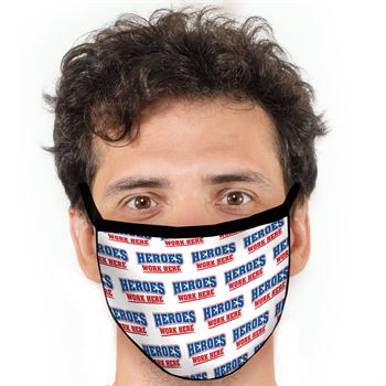 Heroes Work Here American Made 3-Ply Face Mask
