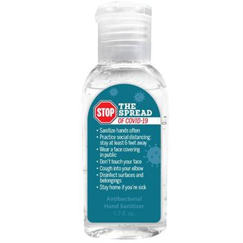 Stop The Spread Of COVID-19 1.7 Oz. Hand Sanitizer