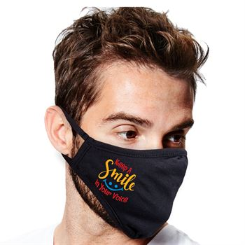 Keep a Smile in Your Voice 2-Ply 100% Cotton Face Mask