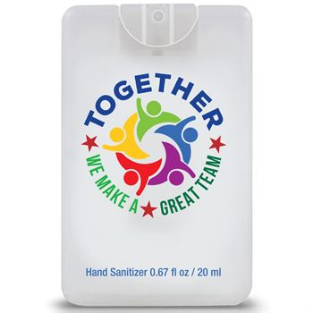 Together We Make A Great Team�Credit Card Style Hand Sanitizer Spray