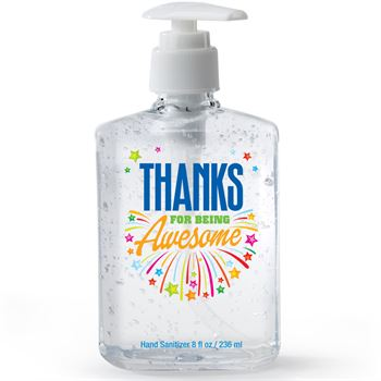 Thanks For Being Awesome 8-Oz. Sanitizer Gel Pump