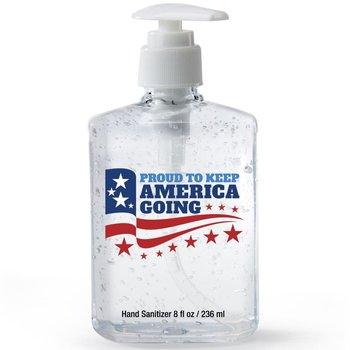 Proud To Keep America Going 8-Oz. Sanitizer Gel Pump