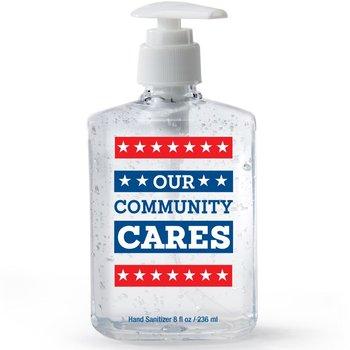 Our Community Cares 8-Oz. Sanitizer Gel Pump