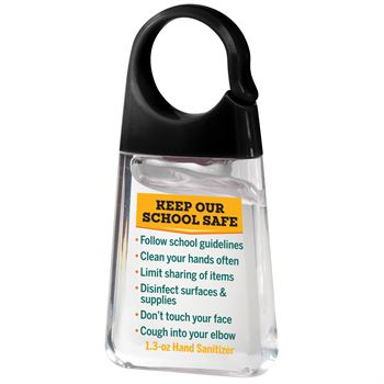 Keep Our School Safe Hand Sanitizer With Carabiner Clip