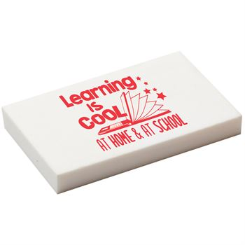 Learning Is Cool At Home & At School White Eraser - Pack of 25