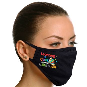 Learning Is Cool At Home & At School Adult 2-Ply 100% Cotton Mask