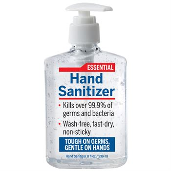 8-Oz. Hand Sanitizer Gel With Pump - 75% Alcohol