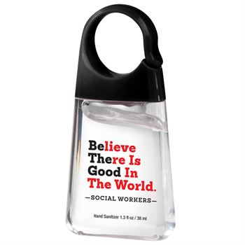 Social Workers Believe There Is Good In The World Hand Sanitizer With Carabiner Clip