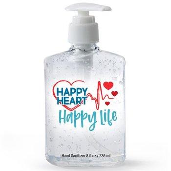 Happy Heart, Happy Life 8-Oz. Hand Sanitizer Gel Pump