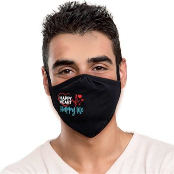 Happy Heart, Happy Life 2-Ply 100% Cotton Face Mask