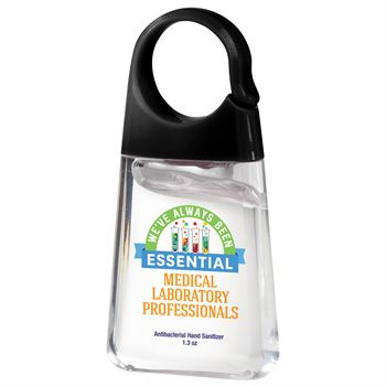 Medical Laboratory Professionals: We've Always Been Essential 1.3-oz. Hand Sanitizer with Carabiner Clip