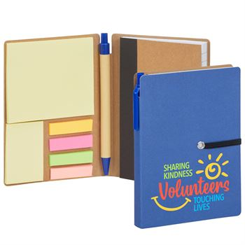 Volunteers: Sharing Kindness, Touching Lives Jotter With Sticky Notes & Pen