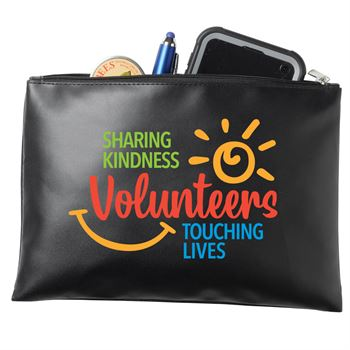 Volunteers Sharing Kindness Touching Lives Vinyl Pouch