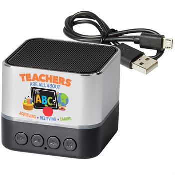 Teachers Are All About The ABC's Two-Tone Metal Bluetooth Speaker