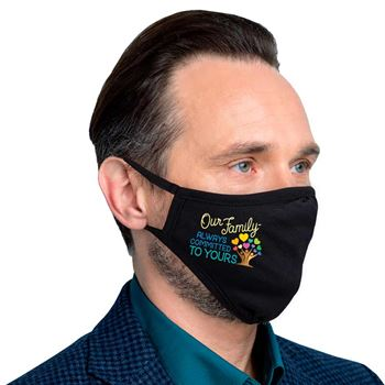Our Family: Always Committed To Yours 2-ply 100% Cotton Face Mask - Increments of 10